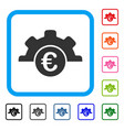 euro technology framed icon vector image vector image
