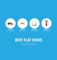 flat icon clothes set of male footware elegant vector image vector image