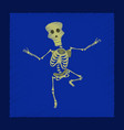 Flat shading style icon skeleton halloween monster