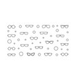 glasses horizontal outline or vector image