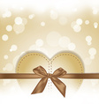 golden hearts gift on magical background vector image vector image