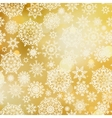 golden pattern with snowflakes eps 8 vector image vector image