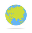 green and blue cartoon world map globe vector image vector image