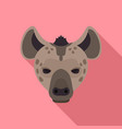 hyena icon flat style vector image