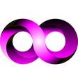 infinity icon symbol design vector image