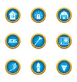 lose your home icons set flat style vector image vector image