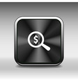 Magnifier with dollar sign money business sign sym vector image