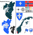 Map of Rogaland vector image vector image