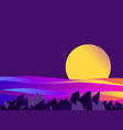 night seascape sunset gradient waves vector image