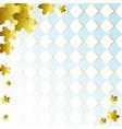 oktoberfest background with golden maple vector image