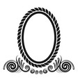oval decorative border vector image