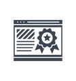 page quality glyph icon vector image vector image