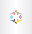 people team symbol star color icon vector image vector image