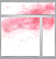 Pink watercolor abstract banners vector image vector image