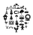 playschool icons set simple style vector image vector image