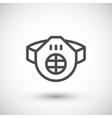 Protective respirator line icon vector image vector image