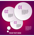 purple page template presentation steps option vector image
