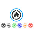 realty diagram rounded icon vector image vector image