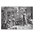 saint paul preaching at athens - the areopagus vector image