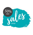 sale offer 50 off blue background sale banner vec vector image vector image