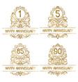 set golden anniversary vintage emblems for one vector image vector image