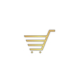 shopping cart computer symbol vector image