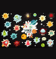 space labels set vector image vector image