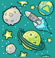 space travel seamless pattern vector image
