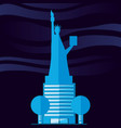 statue of liberty structure isolated icon vector image