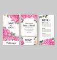Template for wedding invitation peony flowers