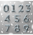Trendy grey fractal geometric numbers vector image