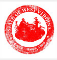 west virginia seal stamp vector image vector image