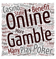 Why Online Poker is a Lot of Fun text background vector image vector image
