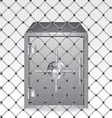 Wire and bank safe vector image vector image