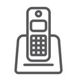 wireless telephone line icon appliance vector image vector image