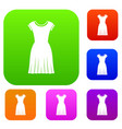 woman dress set collection vector image vector image