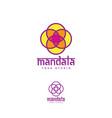 logo mandala yoga studio vector image