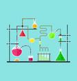 cartoon chemical laboratory vector image