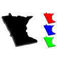 3d map of minnesota vector image vector image