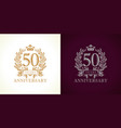 50 anniversary luxury logo vector image vector image