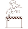 A sketch of a sporty young girl vector image vector image