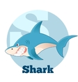 ABC Cartoon Shark vector image vector image