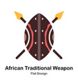 african traditional weapon flat icon vector image