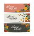 autumn banner set three pieces vector image