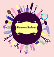 background for Hair and Beauty salon Barber Shop vector image vector image
