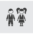 Boy and girll pupil icon vector image vector image