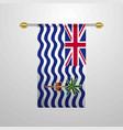british indian ocean territory hanging flag vector image