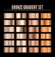 bronze metal realistic gradient collection vector image vector image
