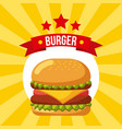 burger icon fast food restaurant menu vector image