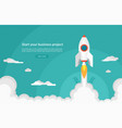 business startup concept space rocket launch vector image vector image